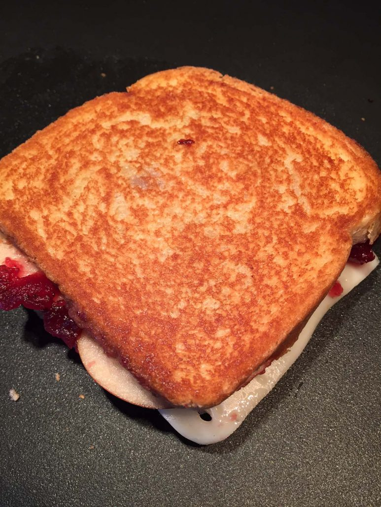 Grilled Cheese On Frying Pan