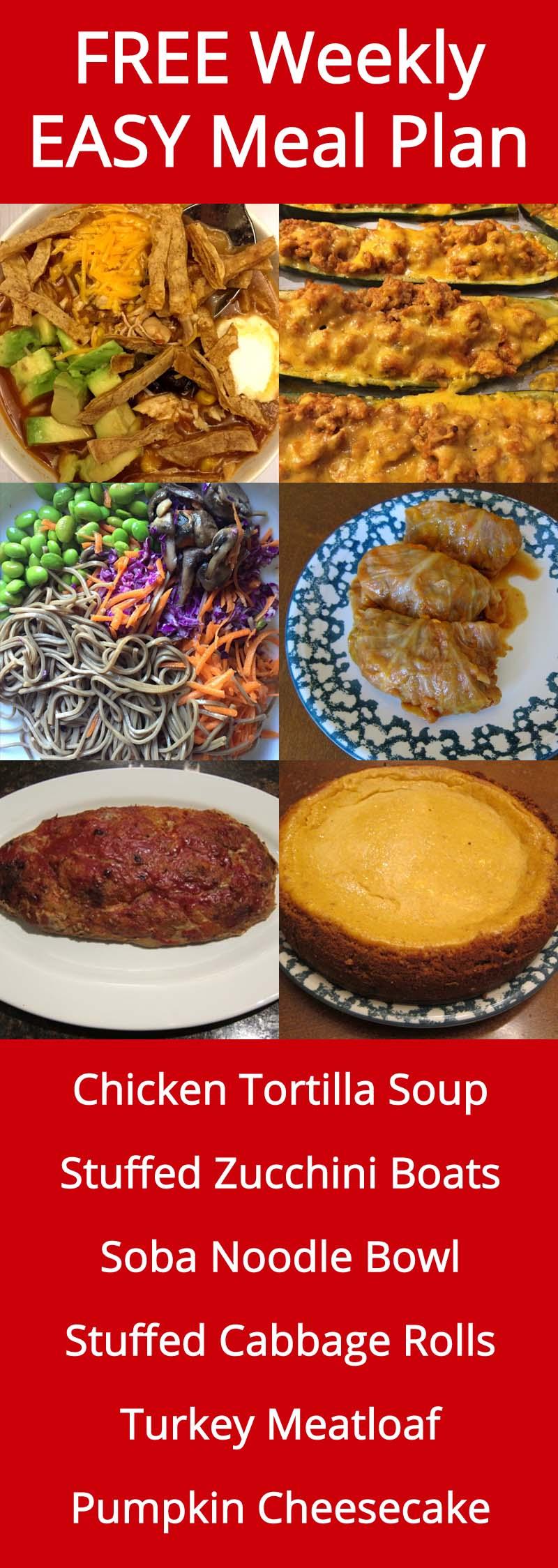 FREE Weekly Easy Meal Plan - Week 32 Recipes