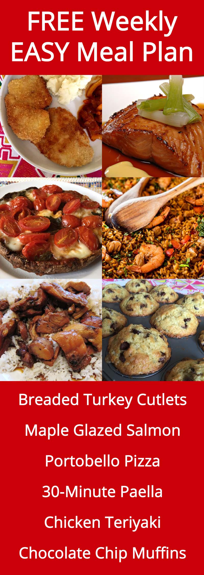 FREE Weekly Meal Plan - Week 33 Recipes & Menu Ideas
