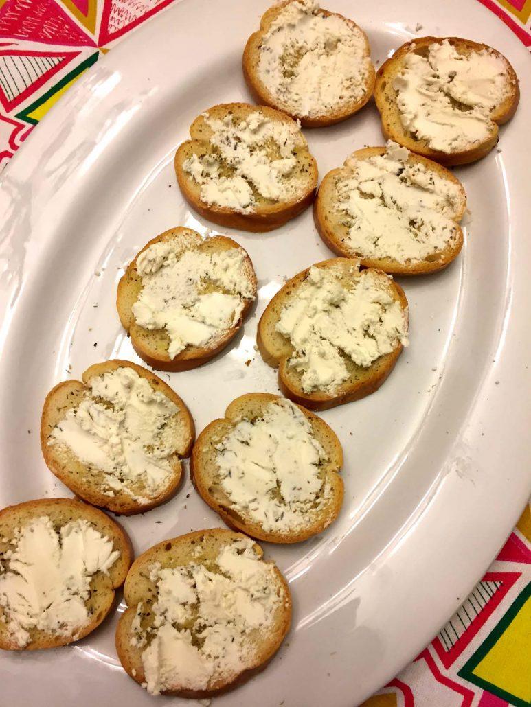 Goat Cheese On Bruschetta