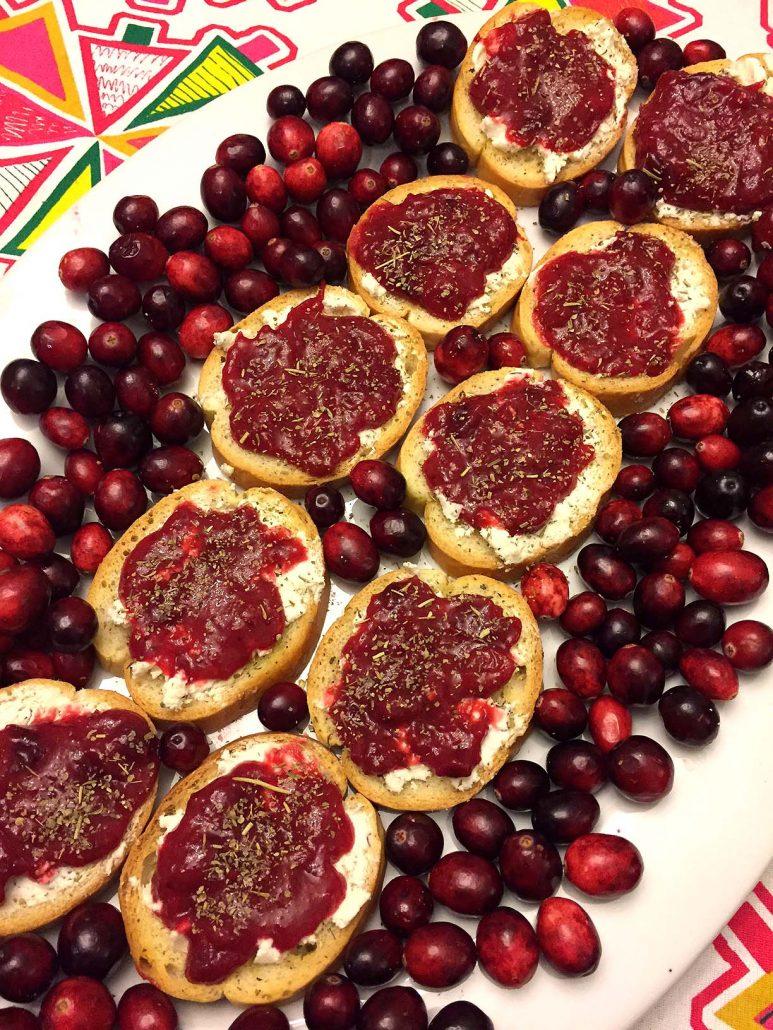 Cranberry And Goat Cheese Bruschetta