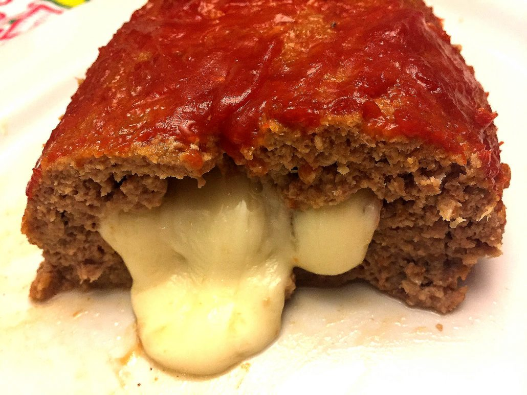 Easy Cheese Stuffed Meatloaf With Melted Cheese Inside