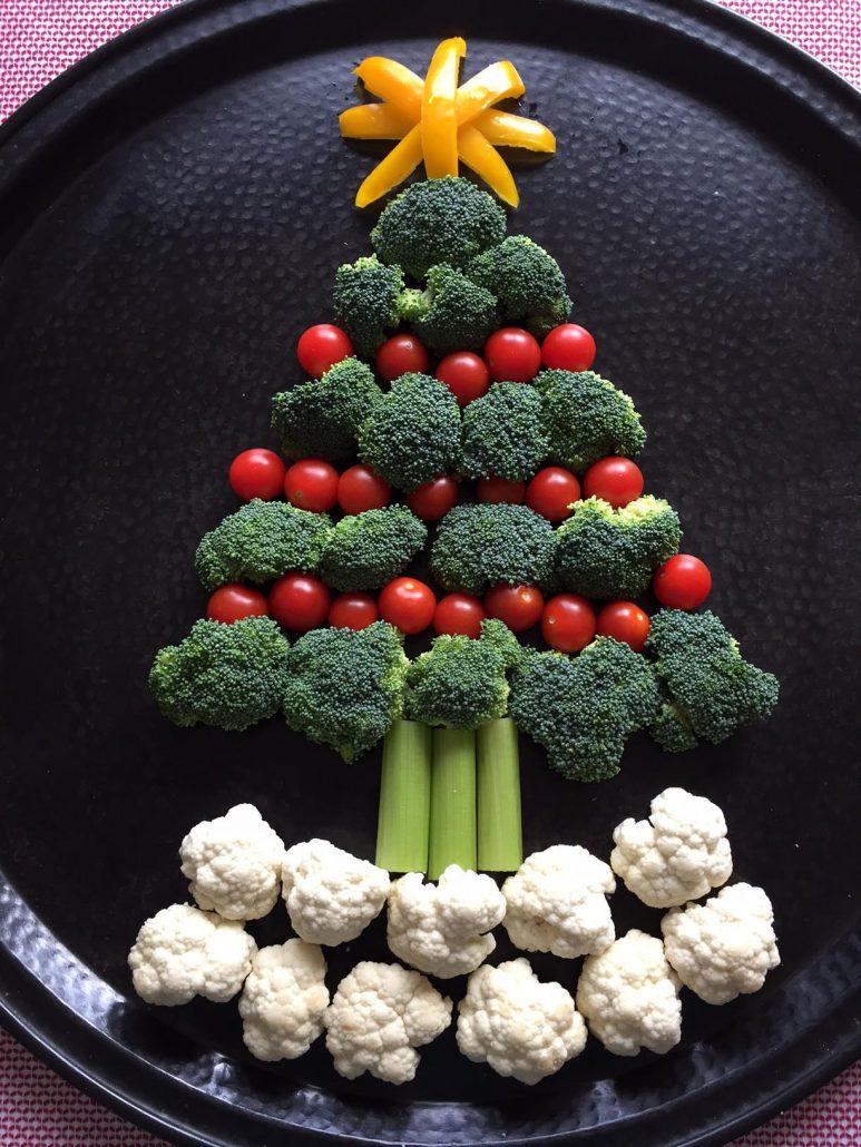 Christmas Tree Vegetable Platter Appetizer Tray Recipe