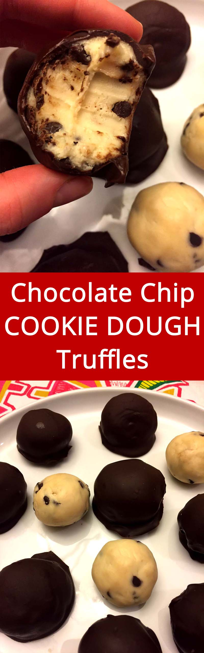 OMG the cookie dough lover's heaven!  These truffles are genius!  LOVE LOVE LOVE!