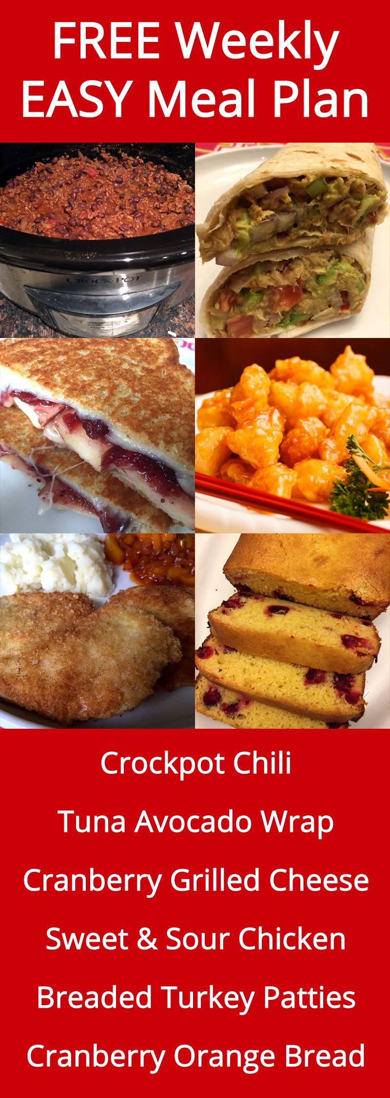 FREE Weekly Meal Plan With Easy Recipes And Dinner Inspiration