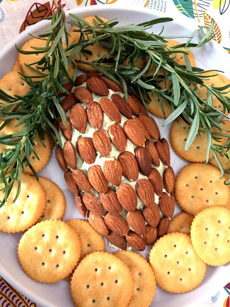 Pinecone Cheese Ball Holiday Appetizer