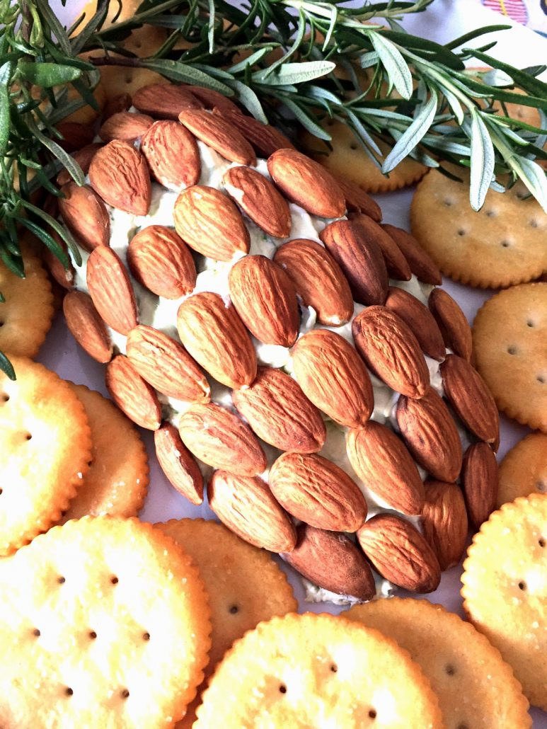Holiday Pinecone Cheese Ball Appetizer Recipe