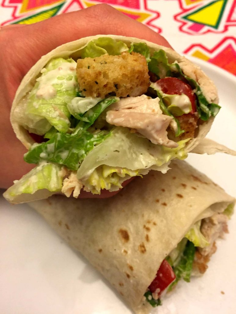 Easy Chicken Caesar Salad Wraps