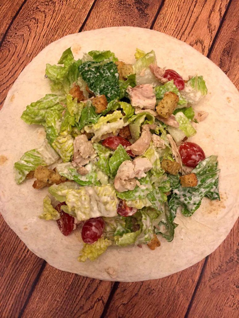 Easy Chicken Caesar Salad Wrap Recipe
