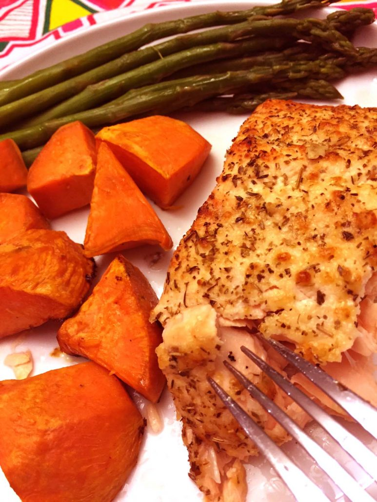 Baked Parmesan Crusted Salmon Recipe