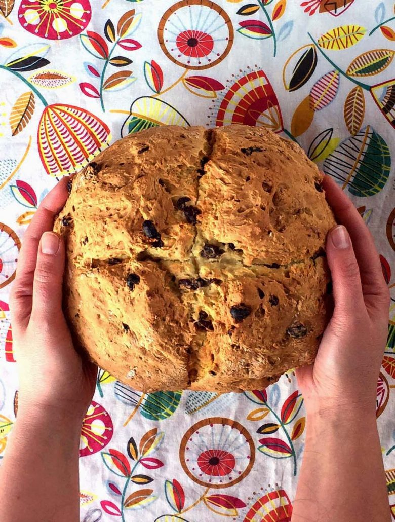 Easy Irish Soda Bread Recipe With Raisins No Buttermilk Needed Melanie Cooks