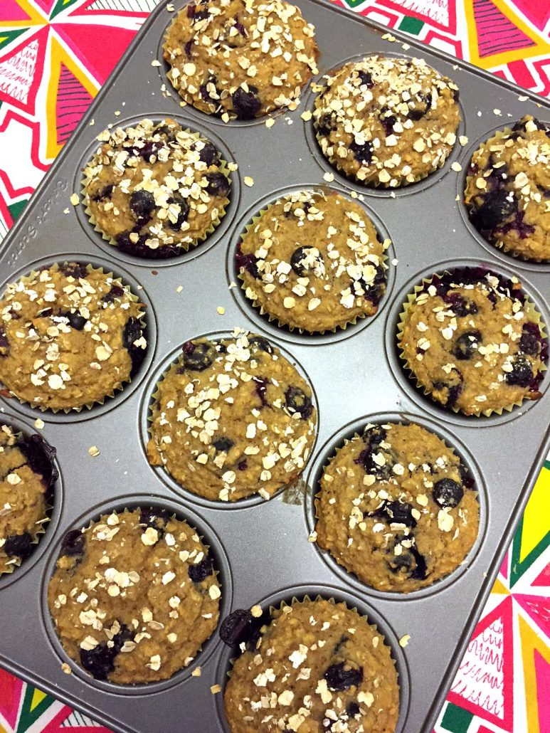 Weight Loss Blueberry Oatmeal Muffins