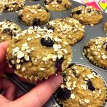 Healthy Blueberry Oatmeal Muffins - Gluten-Free, Sugar-Free And Low Fat!
