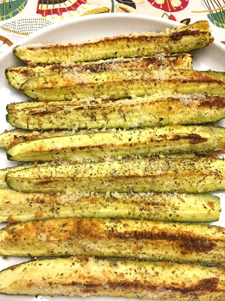 Garlic Parmesan Zucchini Wedges