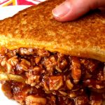 Easy BBQ Chicken Grilled Cheese Sandwich Recipe