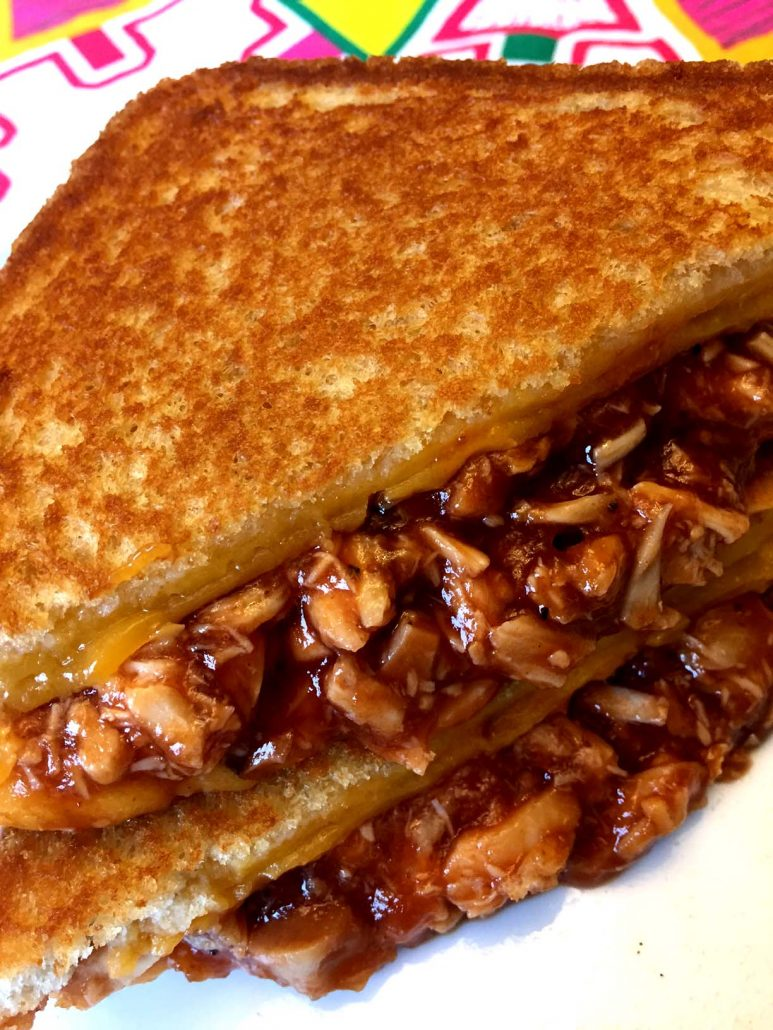 Barbecue Chicken Grilled Cheese Recipe
