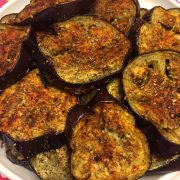 Spicy Garlic Eggplant Slices Appetizer