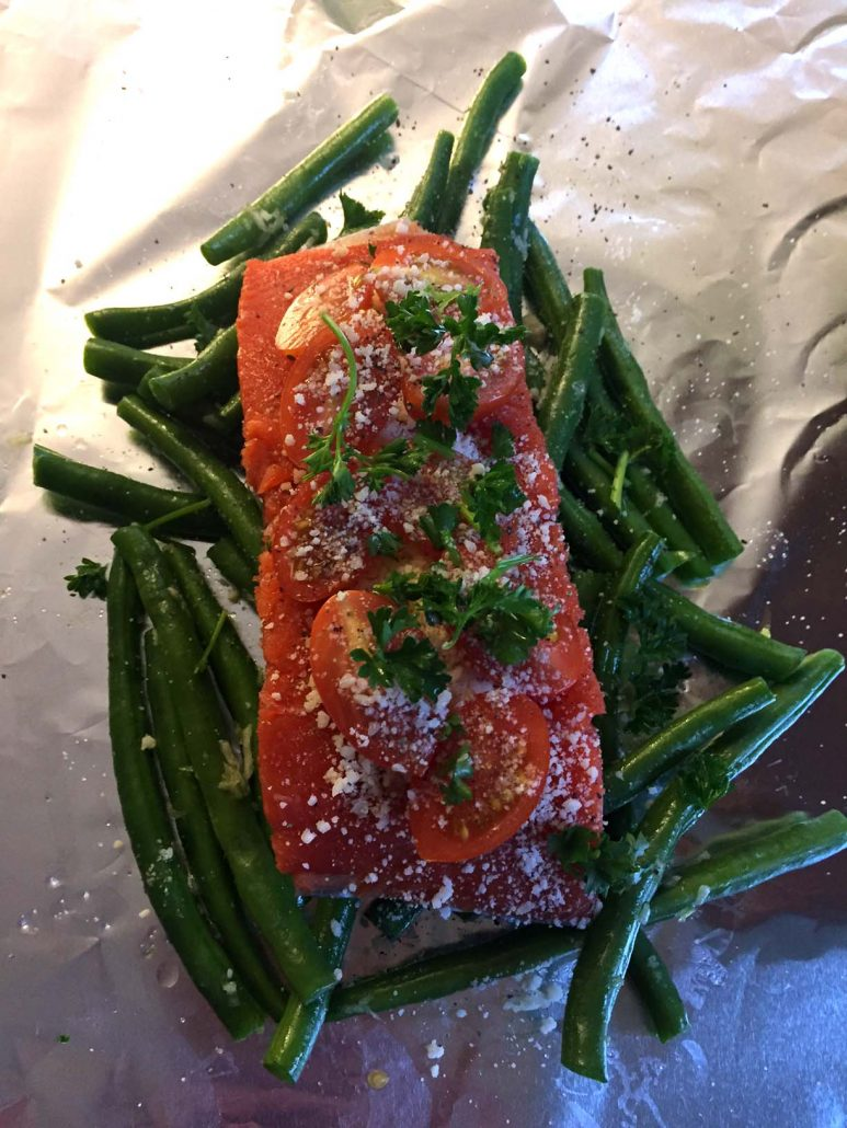 Salmon With Parsley In Foil