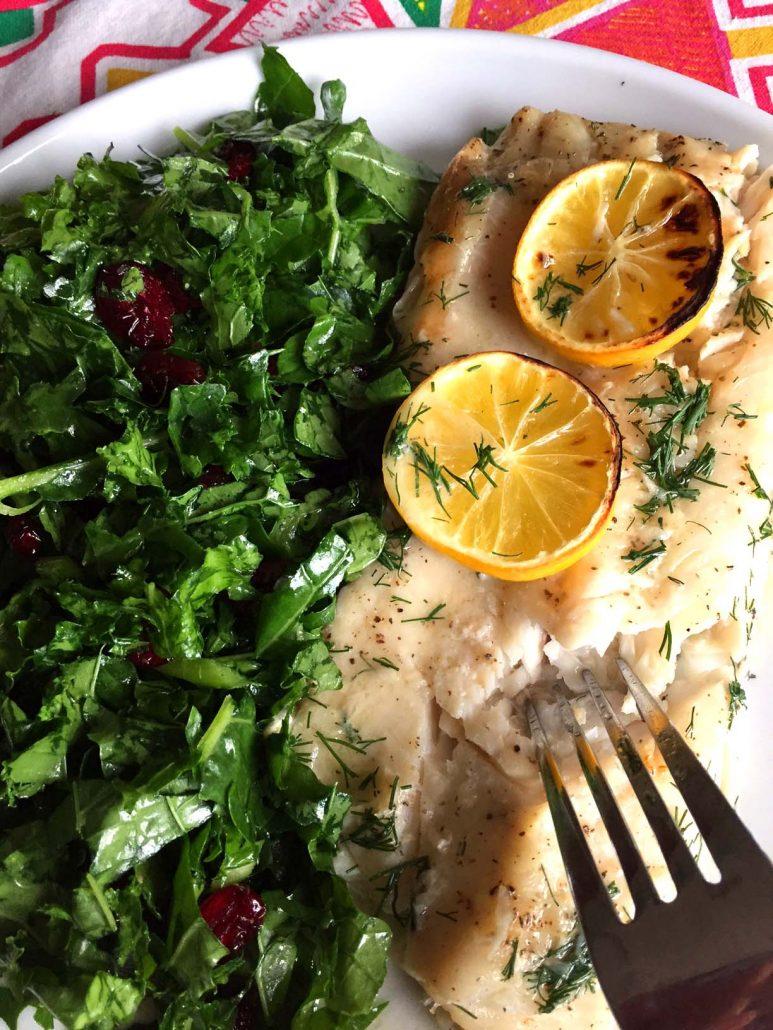 Lemon Garlic Butter Baked Fish