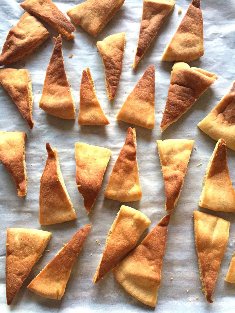 Oven Baked Homemade Pita Chips
