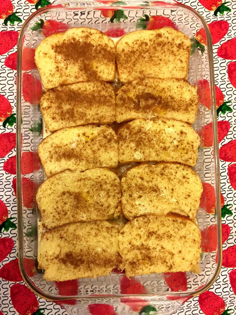 Making Oven French Toast Bake