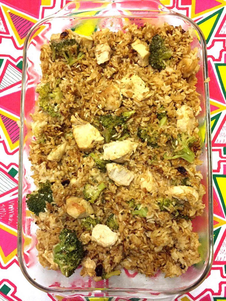 Chicken Fried Rice Casserole Bake