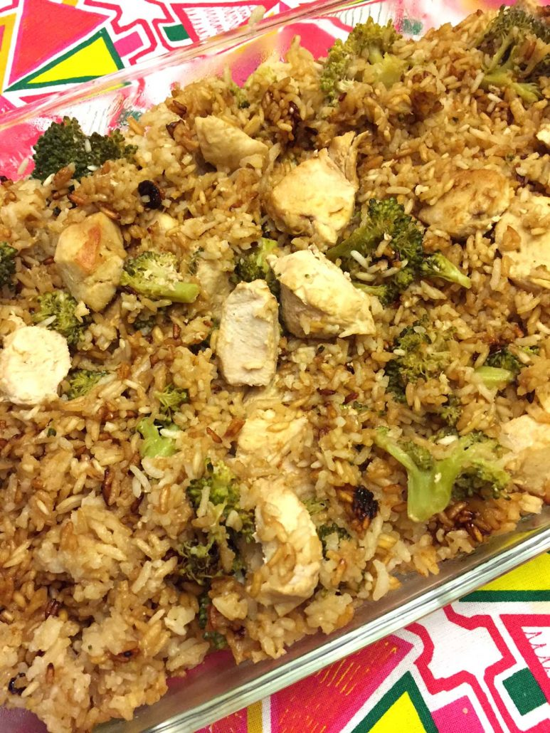 Baked Chicken Fried Rice Casserole