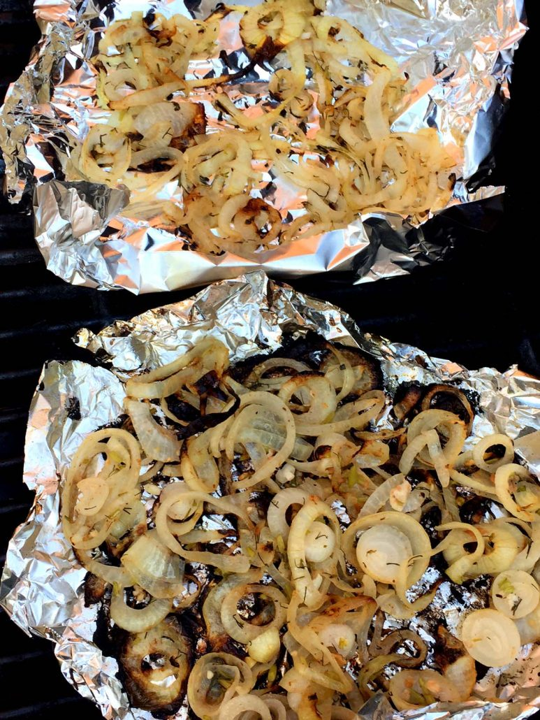 Marinated Grilled Onions In Foil
