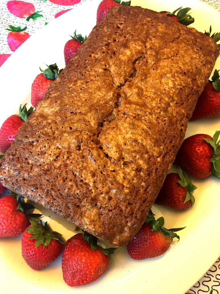 Homemade Strawberry Bread Loaf