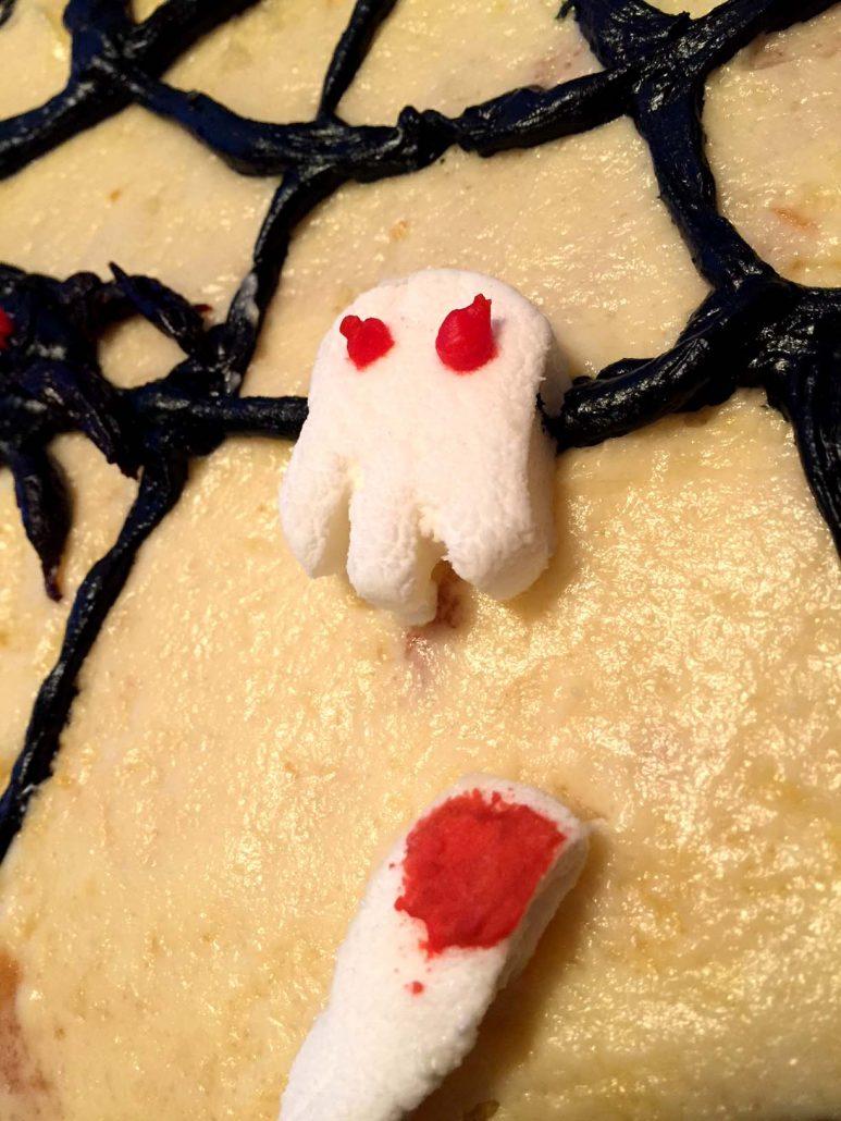 Halloween Cake Ideas Marshmallow Ghosts