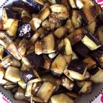 Easy Healthy Roasted Eggplant Cubes Recipe