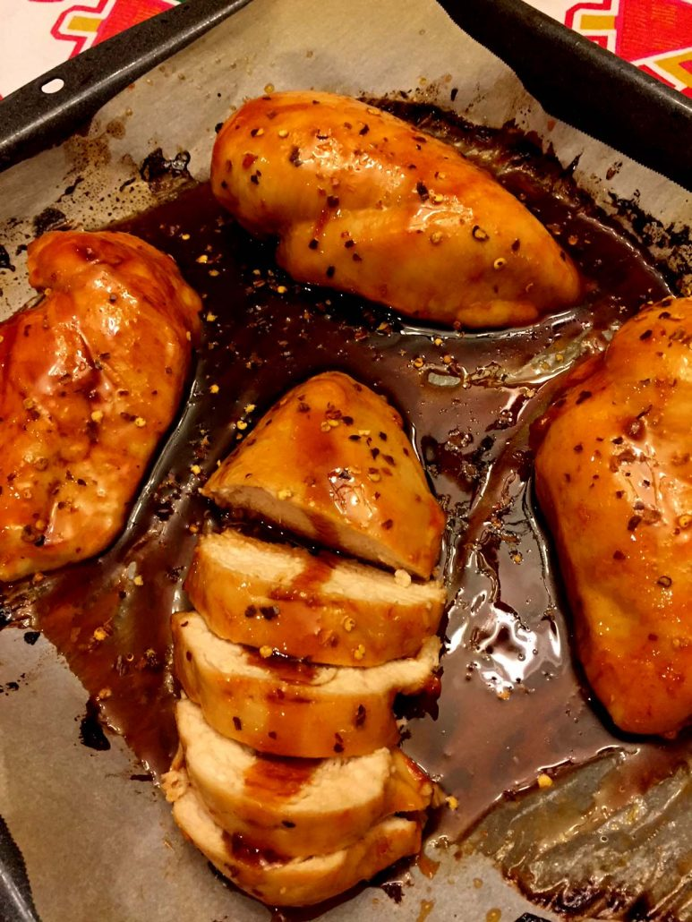 Easy Baked Chicken With Sweet And Hot Sriracha
