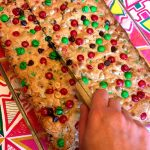 Christmas M&M's Cookie Bars Squares Recipe