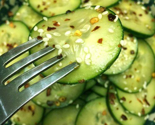 Asian Sesame Cucumber Salad Recipe