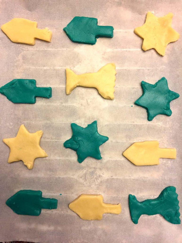 Chanukkah cookie dough