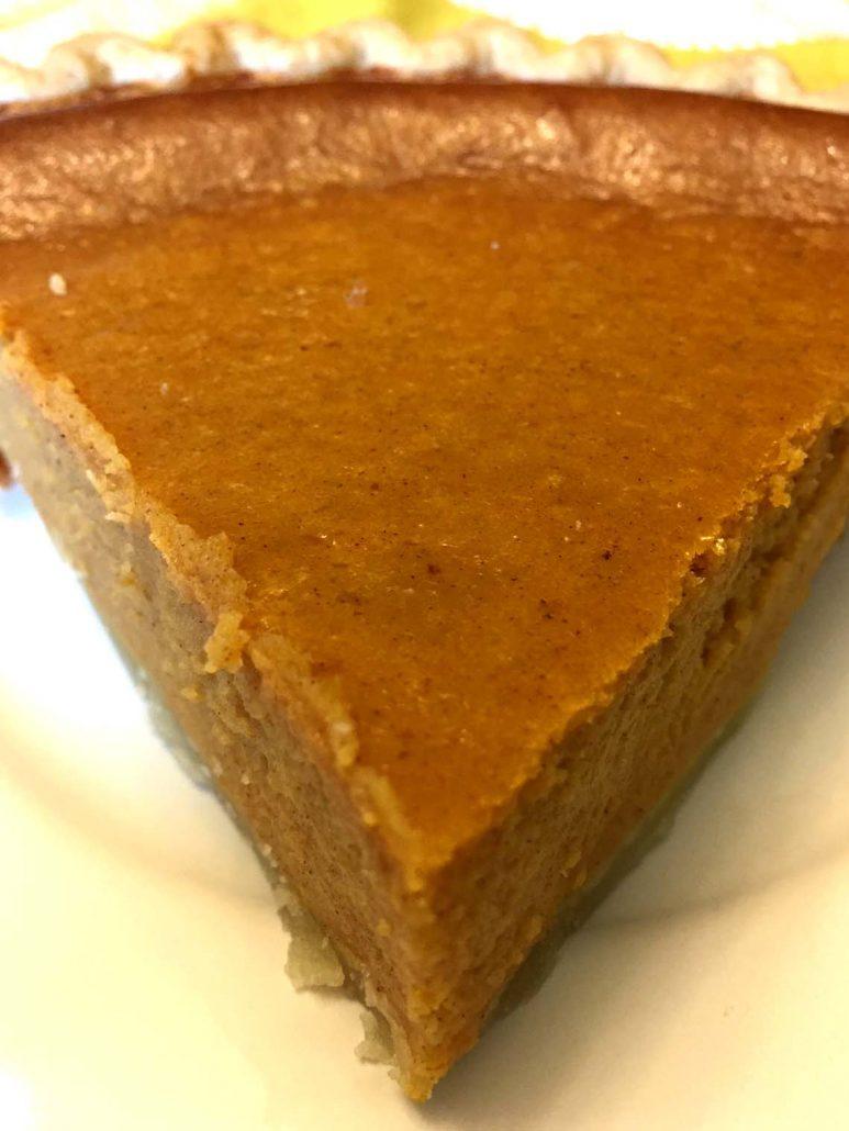 Homemade Pumpkin Pie Slice