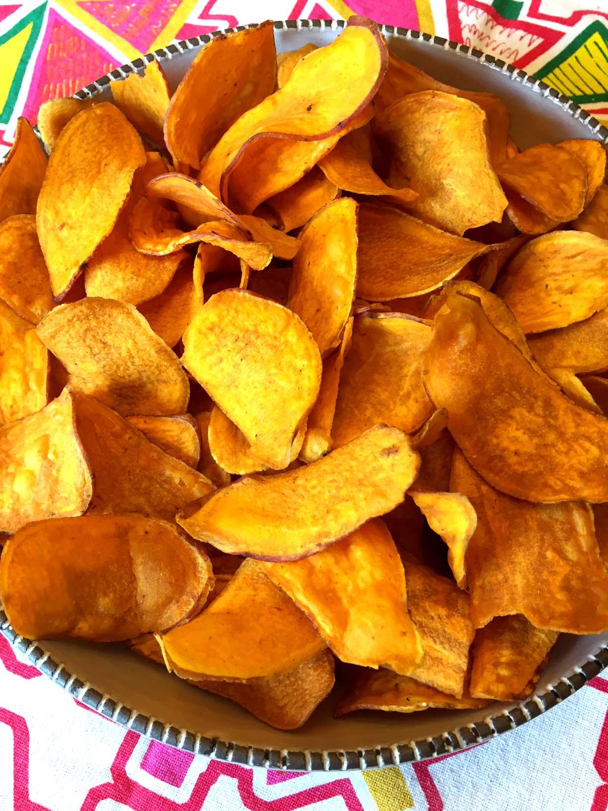 Baked Sweet Potato Chips Recipe Melanie Cooks