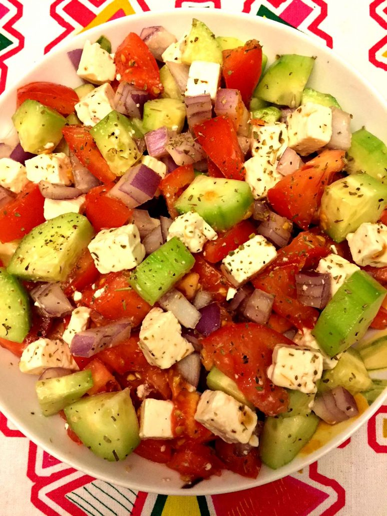 Best Ever Greek Salad With Tomatoes Cucumbers And Feta