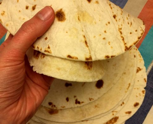 Homemade Mexican Flour Tortillas Recipe