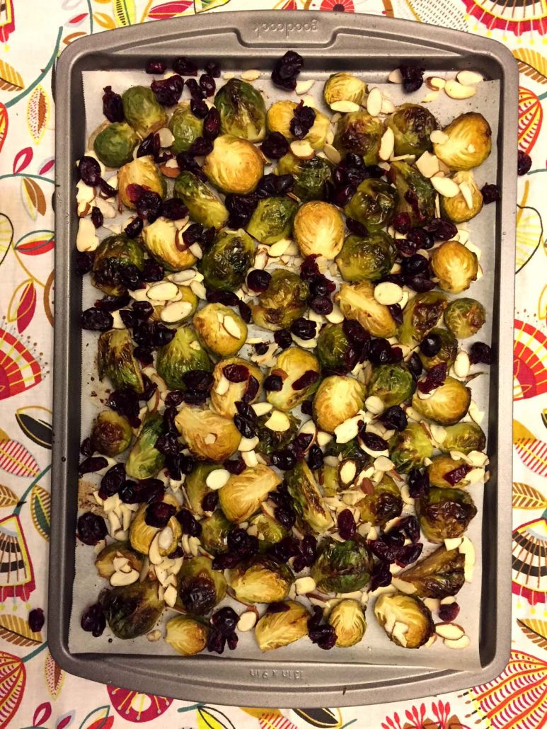 Brussels Sprouts With Dried Cranberries And Almonds