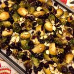 Balsamic Roasted Brussels Sprouts With Cranberries And Almonds