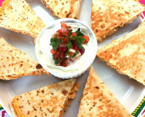 Buffalo Chicken Quesadillas Wedges