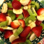 Christmas Fruit Salad With Strawberries, Kiwis and Bananas - Red, Green & White!