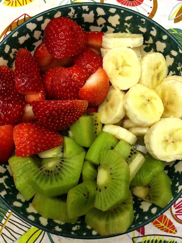 Strawberry Banana Kiwi Fruit Salad Ingredients