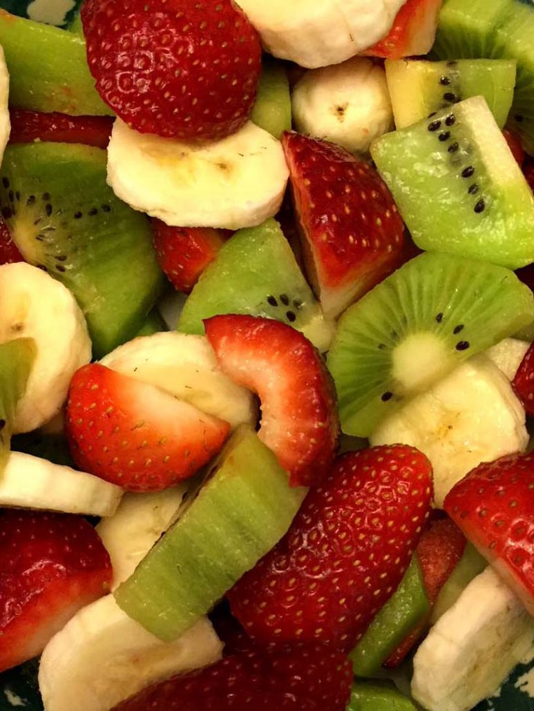Red White And Green Christmas Fruit Salad Recipe