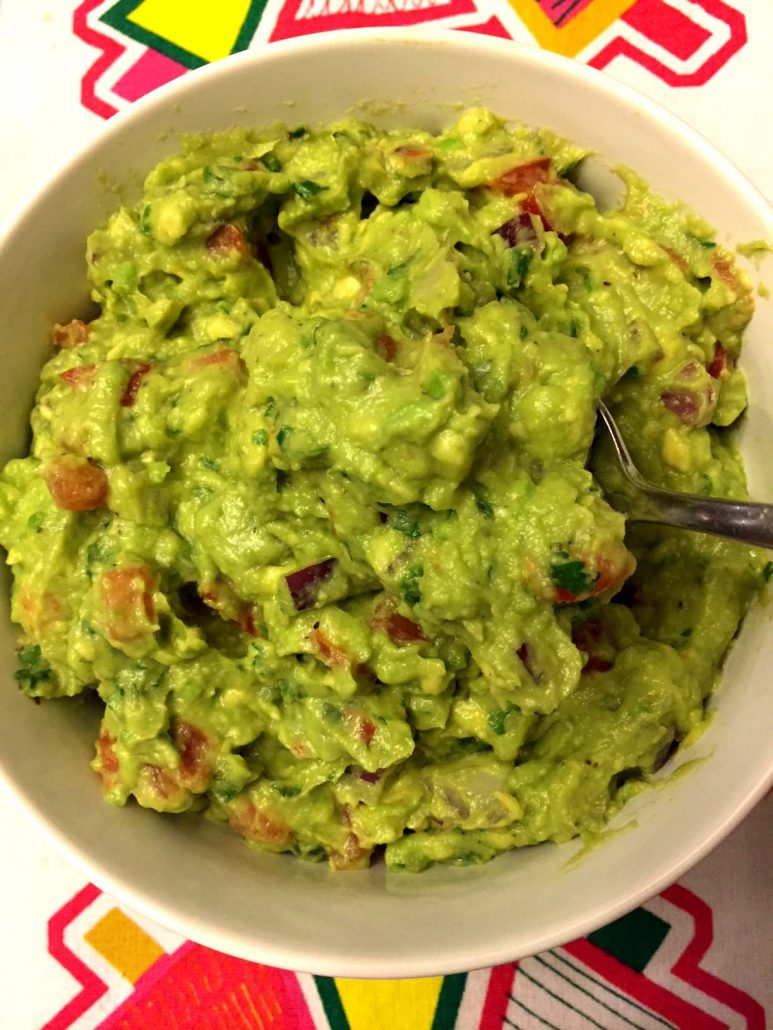 Freshly Made Mexican Guacamole