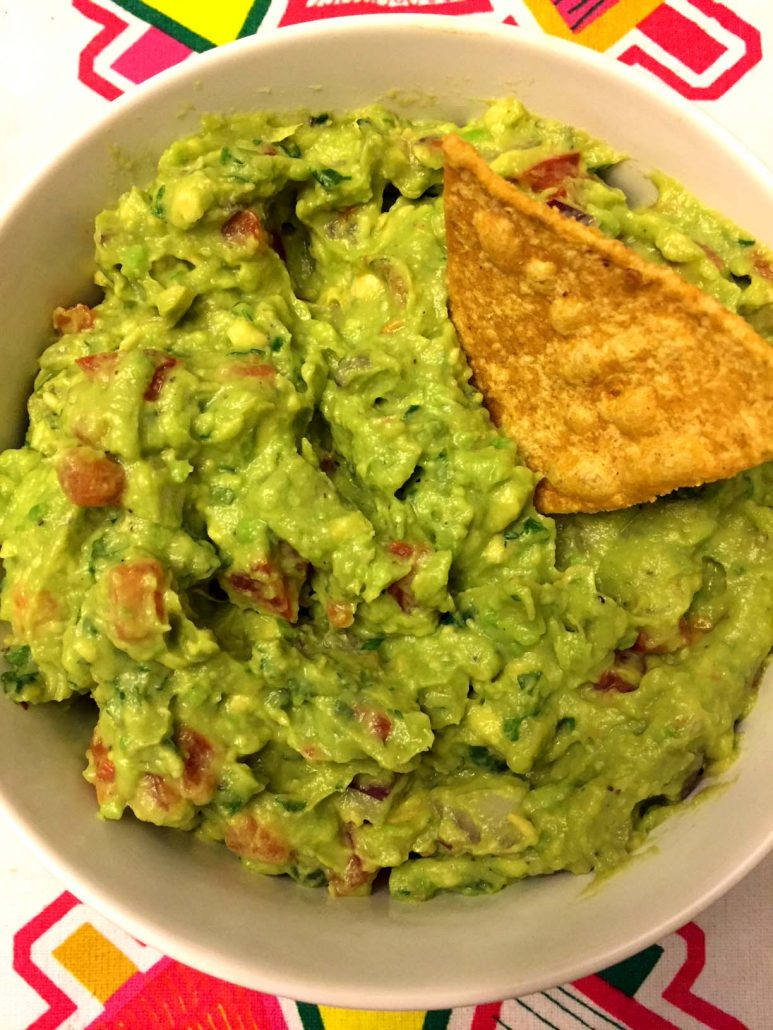 Homemade Guacamole And Chips