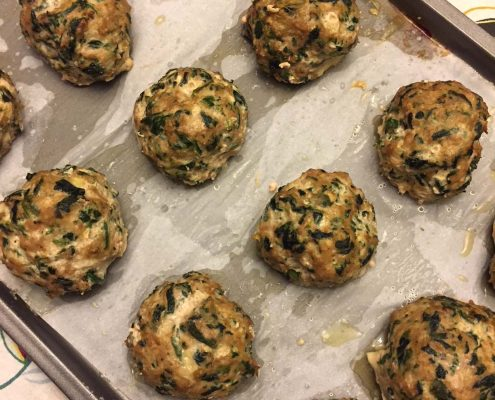 Keto Turkey Spinach Meatballs