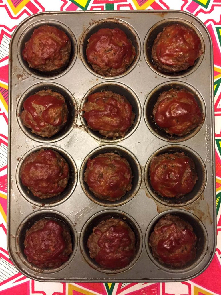 Individual Size Meatloaf In A Muffin Pan