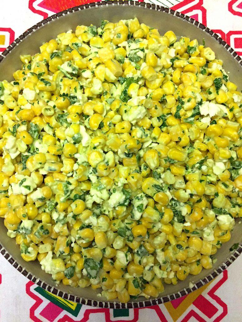 Fresh Corn Salad With Garlic Mayo